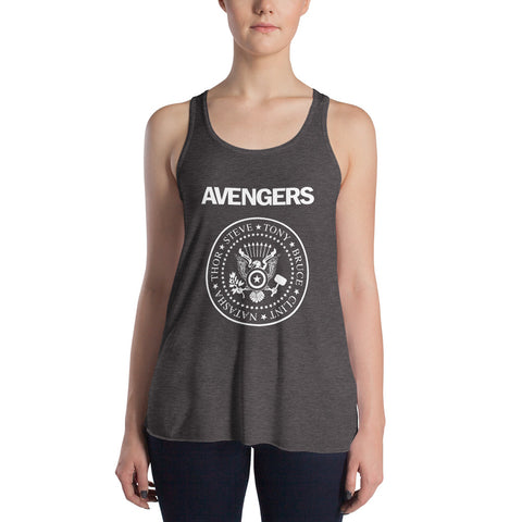 Avengers - Women's Tank Top - Ramones Marvel Parody Graphic Shirt