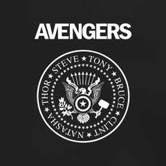 Avengers - Women's Tee Shirt - Ramones Marvel Parody Graphic T-Shirt