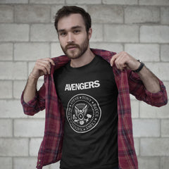 Avengers - Men's Tee Shirt - Ramones Marvel Parody Graphic T-Shirt