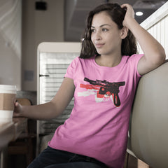 Blaster - Women's Tee Shirt - Warhol Star Wars Parody Graphic T-Shirt
