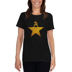 Captain: An American Musical - Women's Tee Shirt - Hamilton Marvel Parody Graphic T-Shirt