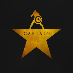 Captain: An American Musical - Men's Tee Shirt - Hamilton Marvel Parody Graphic T-Shirt