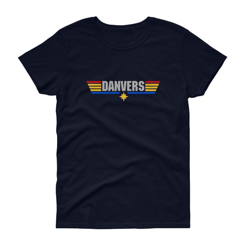 Captain Danvers - Women's Tee Shirt - Top Gun Marvel Parody Graphic T-Shirt