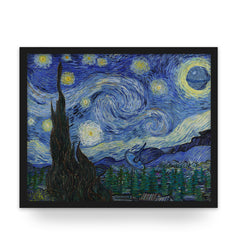 Death Starry Night - Art Print - Van Gogh Star Wars Parody Wall Art and Canvas Print