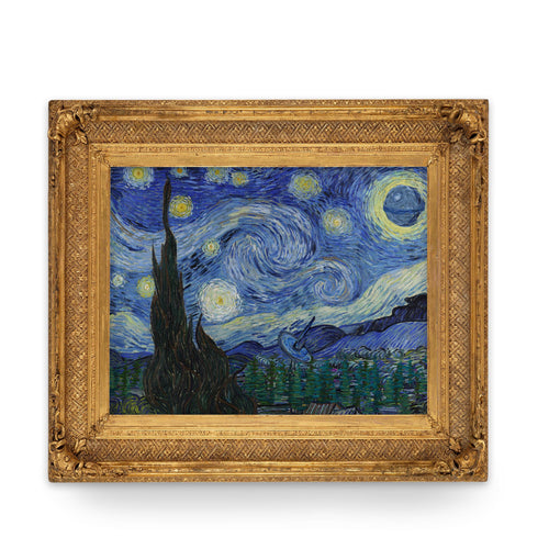 Death Starry Night - Art Print - Van Gogh Star Wars Parody