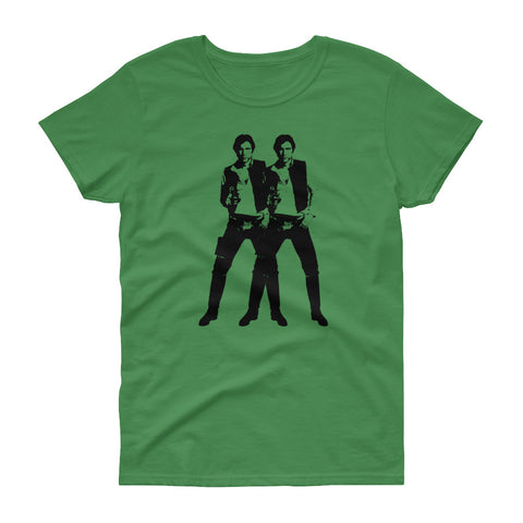 Double Solo - Women's Tee Shirt - Warhol Star Wars Parody Graphic T-Shirt