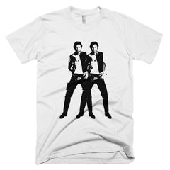 Double Solo - Men's & Women's Tee Shirt - Warhol Star Wars Parody Unisex Graphic T-Shirt - Star Wars Shirt