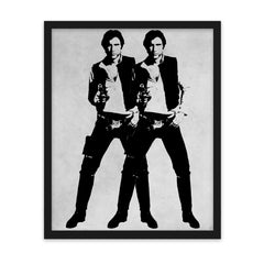 Double Solo - Art Print - Warhol Star Wars Parody Wall Art and Canvas Print