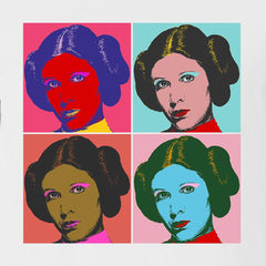 Four Leias - Women's Tee Shirt - Warhol Star Wars Parody Graphic T-Shirt