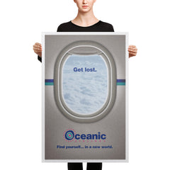 Get Lost - Art Print - Lost Inspired Oceanic Airlines Vintage Ad Wall Art and Canvas Print
