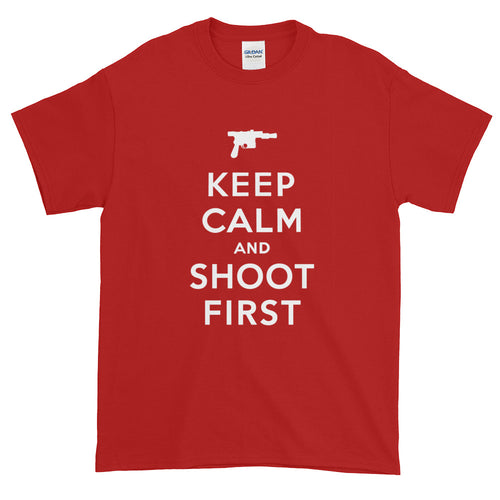 Keep Calm and Shoot First - Men's Tee Shirt - KCCO Star Wars Parody Graphic T-Shirt