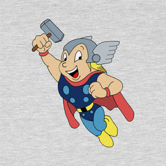 Mighty Thor - Men's Tee Shirt - Marvel Mighty Mouse Parody Graphic T-Shirt