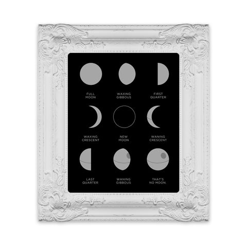Phases of No Moon - Art Print