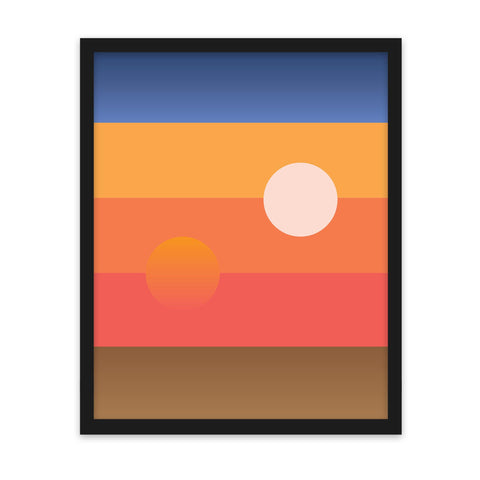 Tatooine Sunset - Art Print