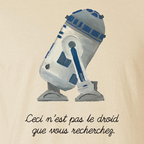 The Treachery of the Force - Men's Tee Shirt - Magritte Star Wars Parody Graphic T-Shirt