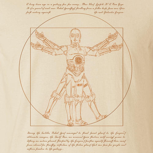 Vitruvian Droid - Men's Tee Shirt