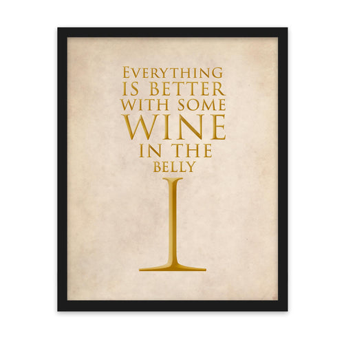 Wine in the Belly - Art Print