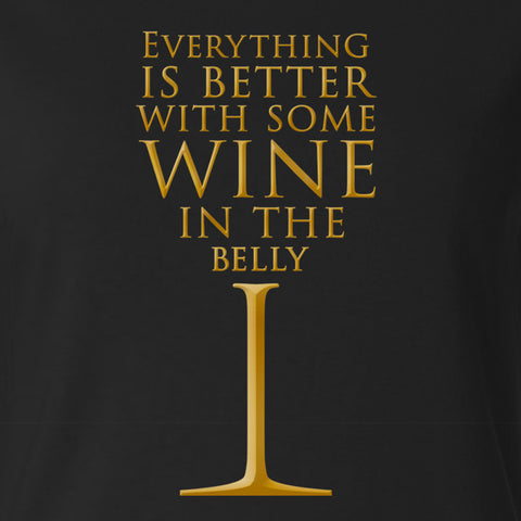 Wine in the Belly - Women's Tee Shirt