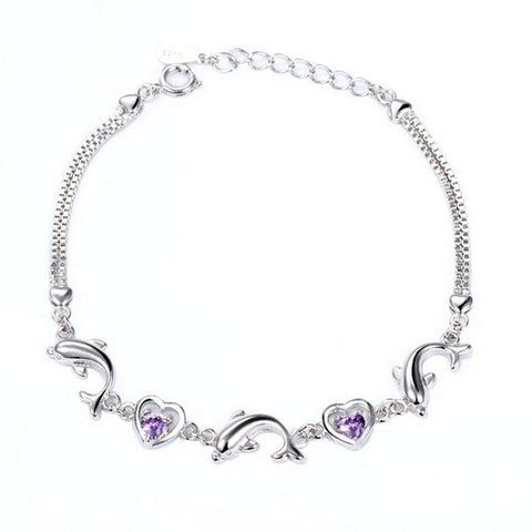 Heart-shaped Dolphin Bracelet - FREE SHIPPING
