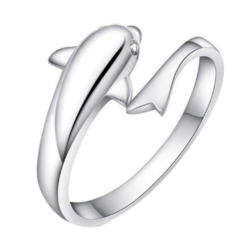 Romantic Dolphin Lovers Adjustable Ring - FREE SHIPPING