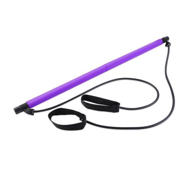 Kit De Barre De Pilates Portable violet