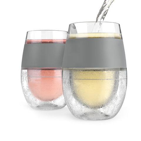 Wine FREEZE™ Cooling Cups (Set of 2) Grey