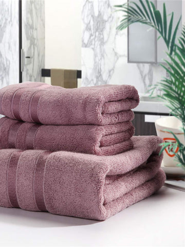 Solid Bath Towel Set