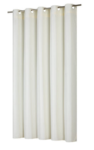 EZ ONR Shower Curtain With Built In Snap Off Liner Ivory