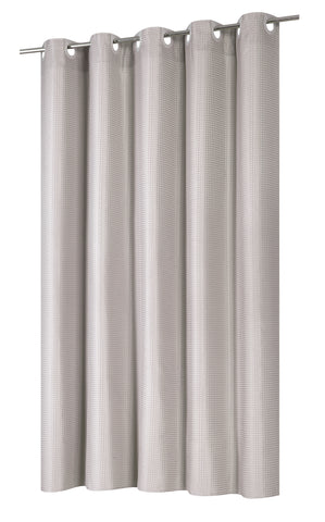 EZ ONR Shower Curtain With Built In Snap Off Liner Taupe