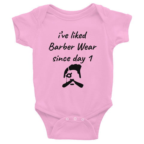 Barber Wear Fan Since Day 1 Infant Bodysuit
