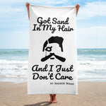 Sand in my hair beach towel