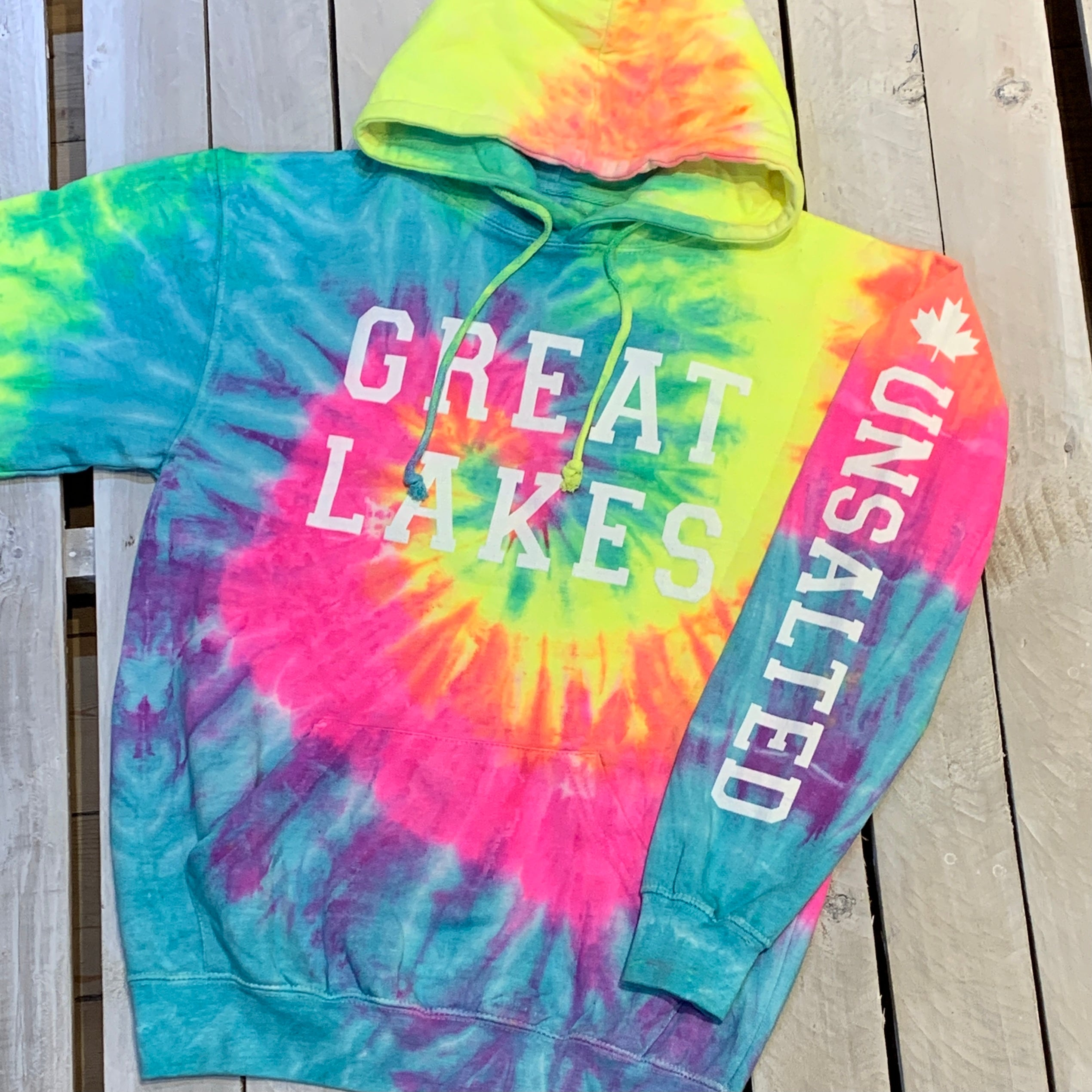 Great Lakes Classics Authentic Tie Dye Hoodie