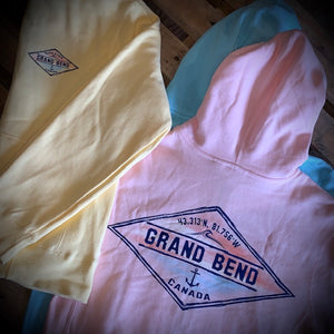 Grand Bend Souvenir Hark Back Ladies Premium Full Zip Hoodie