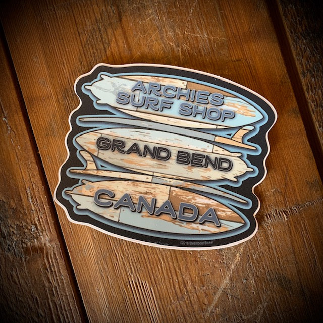 Archies Wooden Boards Vinyl Sticker