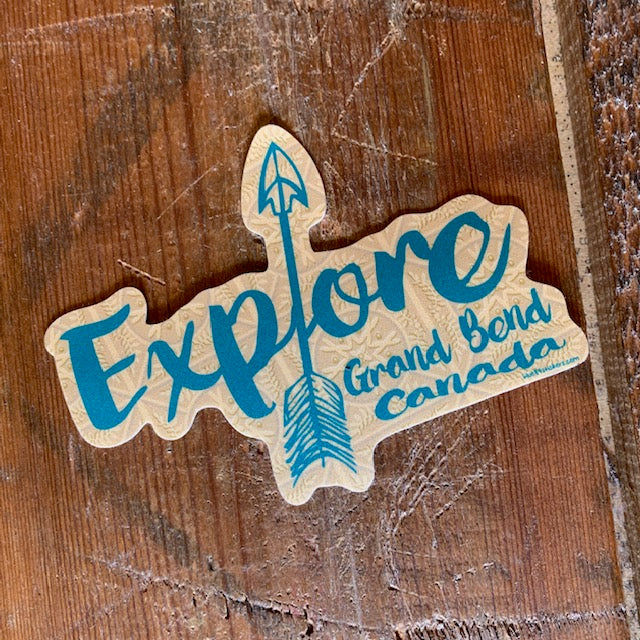 Grand Bend Souvenir Explore Vinyl Sticker