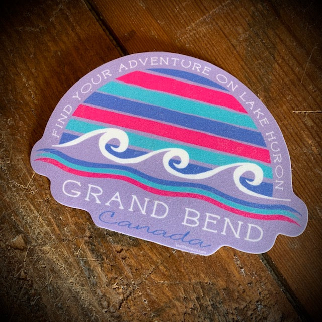 Grand Bend Souvenir Gal Pal Waves Vinyl Sticker