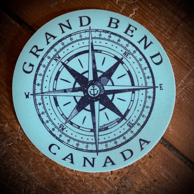 Grand Bend Souvenir Compass Vinyl Sticker
