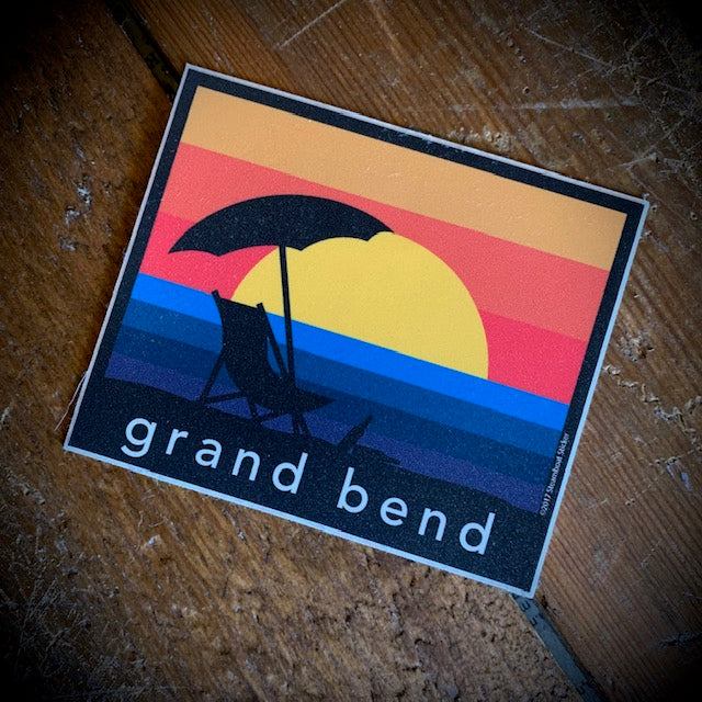 Grand Bend Souvenir Sunset Vinyl Sticker