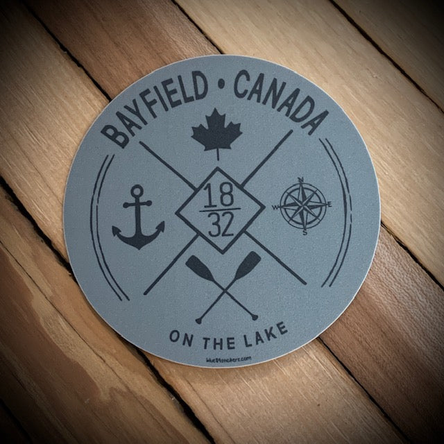 Bayfield Souvenir On The Lake Vinyl Sticker