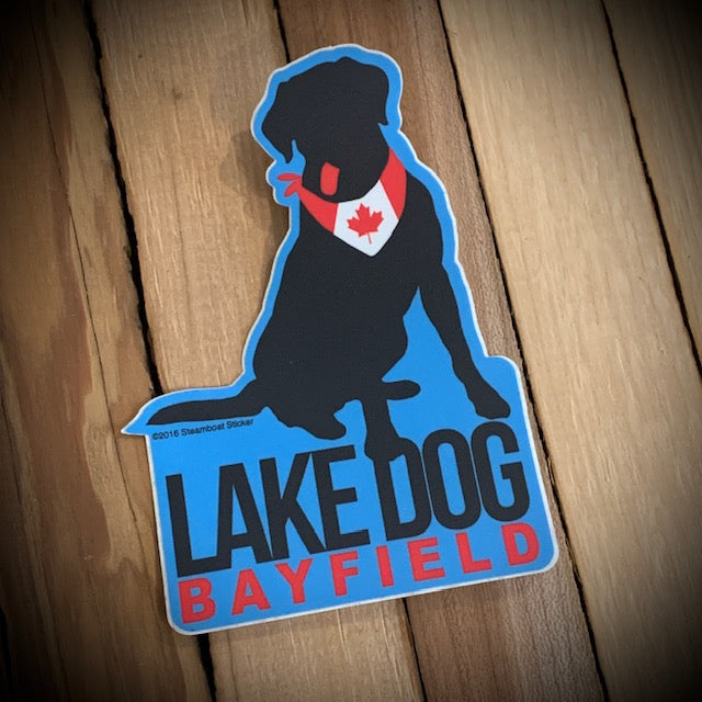 Bayfield Souvenir Lake Dog Vinyl Sticker