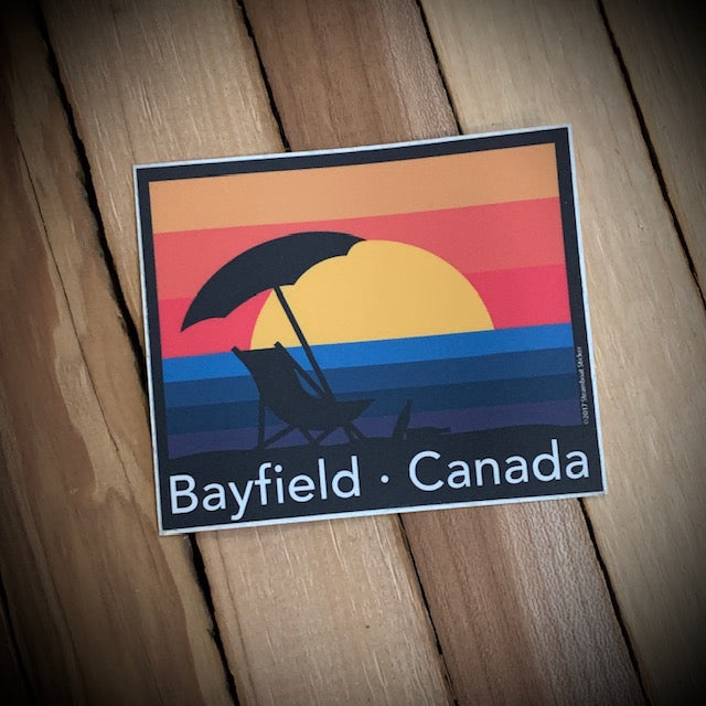 Bayfield Souvenir Sunset Vinyl Sticker
