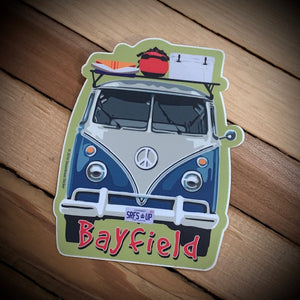 Bayfield Souvenir Surf Van Vinyl Sticker