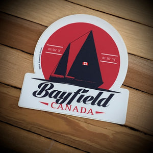 Bayfield Souvenir Sailboat Vinyl Sticker
