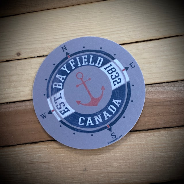 Bayfield Souvenir Harbour Bound Vinyl Sticker