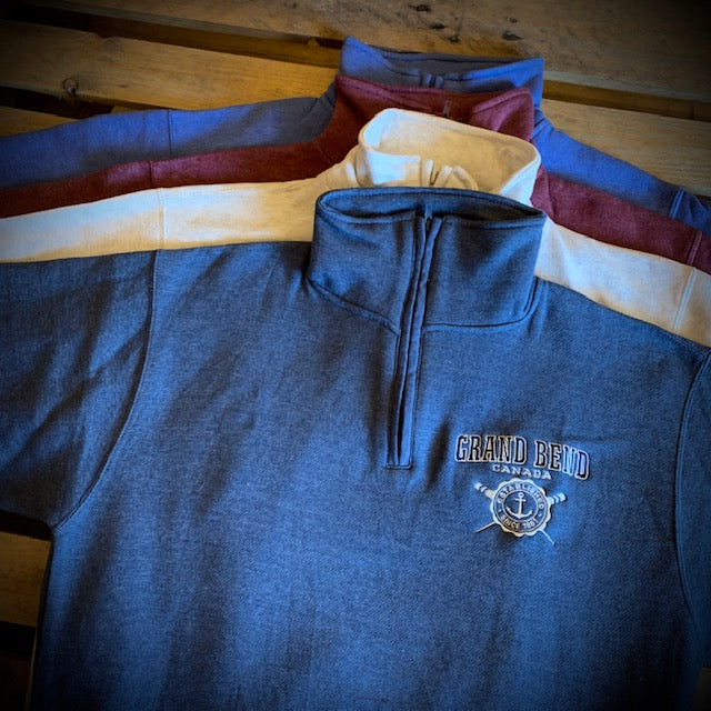 Grand Bend Souvenir Anchor Embroidery 1/4 Zip Fleece