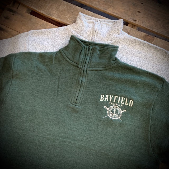 Bayfield Souvenir Nantucket Anchor 1/4 Zip Fleece