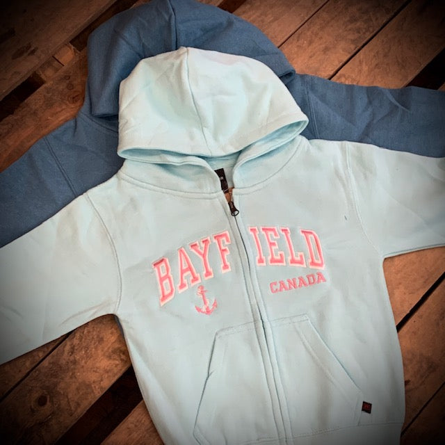Bayfield Souvenir Youth Full Zip Hoodie