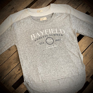 Bayfield Souvenir Ladies Hacci Crew Neck