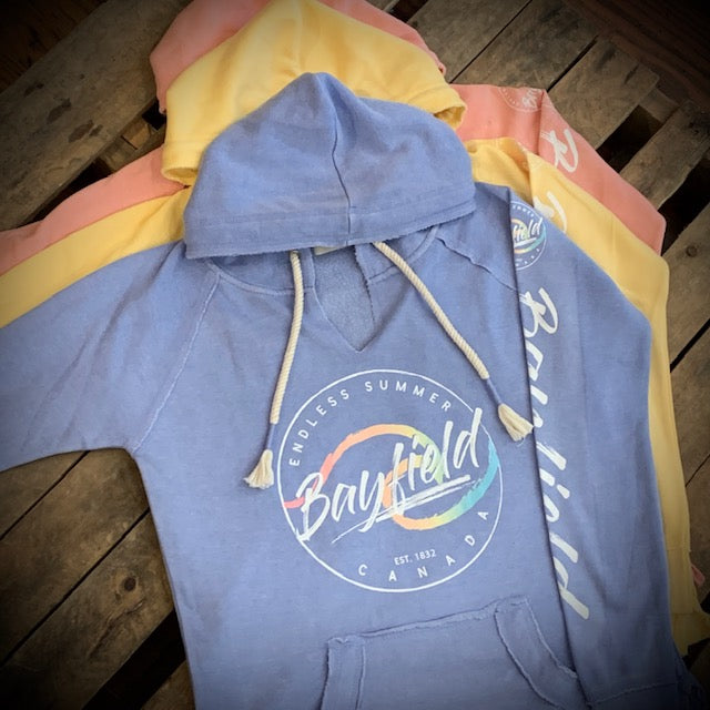 Bayfield Souvenir Ladies Circle Wave Hoodie