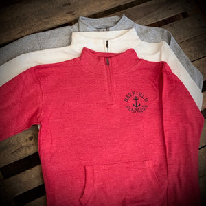 Bayfield Souvenir Ladies Anchor 1/4 Zip Fleece
